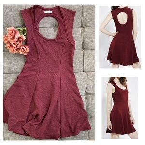 ((silence + noise)) Burgundy Skater Dress